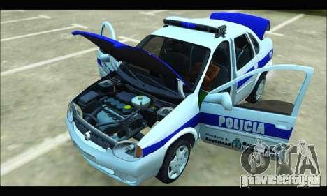 Chevrolet Corsa Policia Bonaerense для GTA San Andreas вид сзади