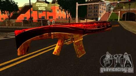 Новогодняя Штурмовая Винтовка для GTA San Andreas второй скриншот