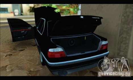 BMW 750iL для GTA San Andreas вид сзади