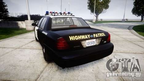 Ford Crown Victoria Highway Patrol [ELS] Vision для GTA 4 вид сзади слева