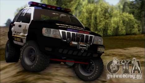 Jeep Grand Cherokee 1999 Sheriff для GTA San Andreas вид сбоку