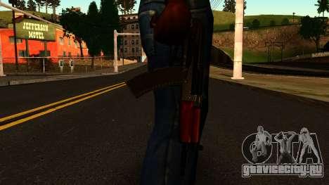 Темный АКС-74У v2 для GTA San Andreas третий скриншот