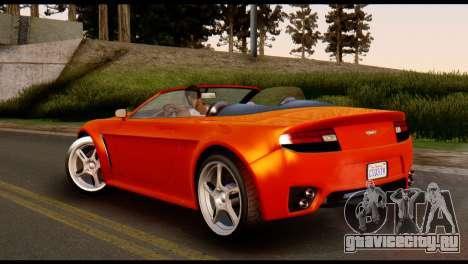 GTA 5 Dewbauchee Rapid GT Cabrio [IVF] для GTA San Andreas вид слева