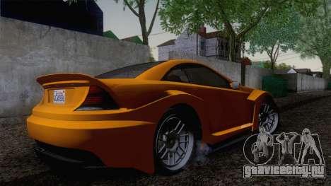 Benefactor Feltzer GTA V для GTA San Andreas вид сзади слева