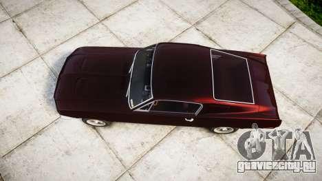 Ford Mustang GT Fastback 1968 для GTA 4 вид справа