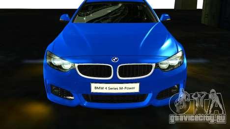 BMW 4-Series Coupe M Sport 2014 для GTA San Andreas вид справа