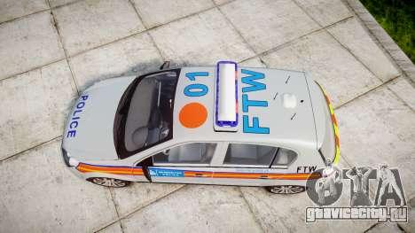 Vauxhall Astra 2010 Police [ELS] Whelen Liberty для GTA 4 вид справа