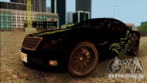 Schyster Fusilade Sport 1.0 (HQLM) для GTA San Andreas вид сзади
