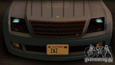 Schyster Fusilade Sport 1.0 (IVF) для GTA San Andreas вид сзади слева