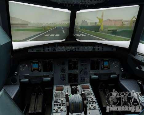 Airbus A320-200 Scandinavian Airlines - SAS для GTA San Andreas салон