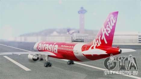 Air Asia Airbus A320 PK-AZF для GTA San Andreas вид слева