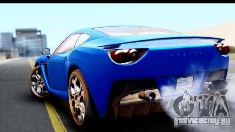 GTA 5 Grotti Carbonizzare v3 для GTA San Andreas вид слева