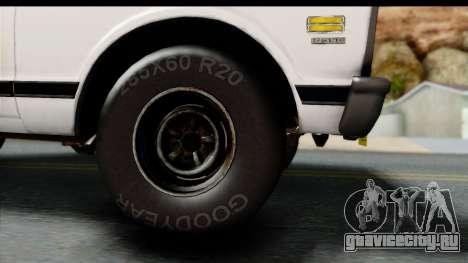 Chevrolet C10 1972 для GTA San Andreas вид справа