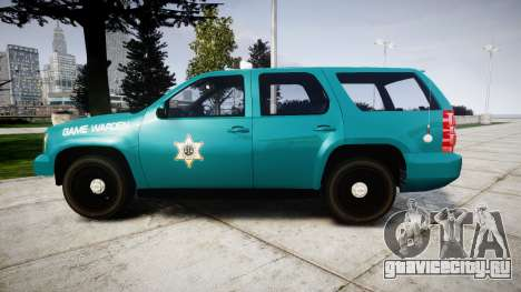 Chevrolet Tahoe 2013 Game Warden [ELS] для GTA 4 вид слева