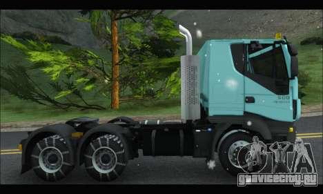 Iveco Trakker 2014 Snow для GTA San Andreas вид сзади слева