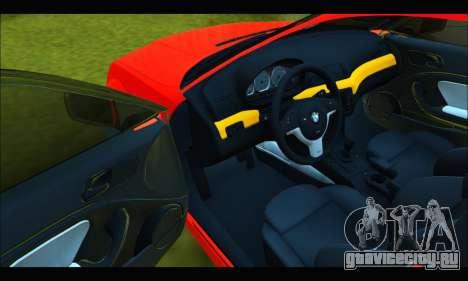 BMW e46 Sedan V2 для GTA San Andreas вид изнутри