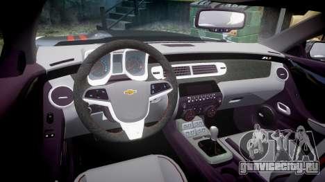 Chevrolet Camaro ZL1 2012 Redline для GTA 4 вид изнутри