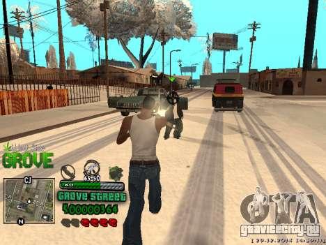 C-HUD Grove Street для GTA San Andreas девятый скриншот