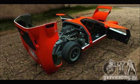 Ford GT40 MKI 1965 для GTA San Andreas вид изнутри