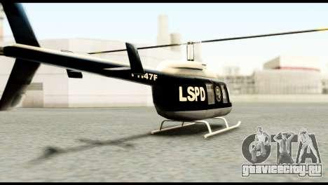 Beta Police Maverick для GTA San Andreas вид слева