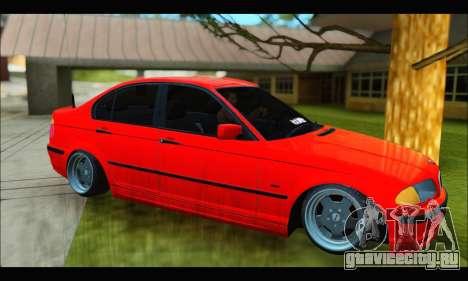 BMW e46 Sedan V2 для GTA San Andreas вид сзади слева
