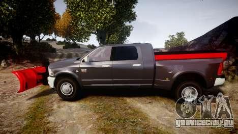 Dodge Ram 3500 Plow Truck [ELS] для GTA 4 вид слева