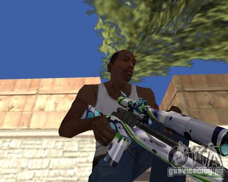 Graffity weapons для GTA San Andreas четвёртый скриншот