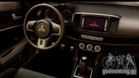 Mitsubishi Lancer Evolution FQ-400 V2 для GTA San Andreas вид сзади