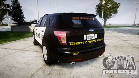 Ford Explorer 2013 County Sheriff [ELS] для GTA 4 вид сзади слева