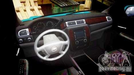 Chevrolet Tahoe 2013 County Sheriff [ELS] для GTA 4 вид сзади