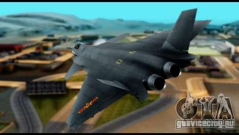 Chenyang J-20 BF4 для GTA San Andreas вид слева