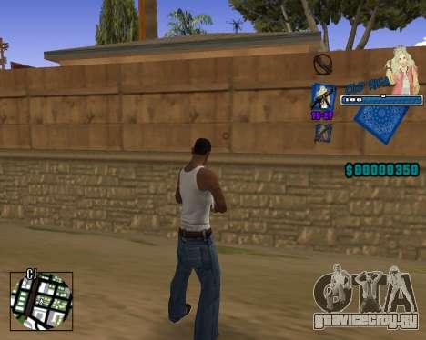 C-HUD Old Rifa для GTA San Andreas