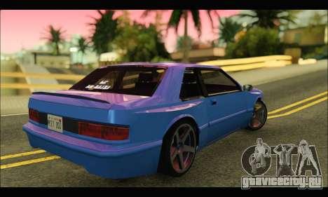 Bravura AWD Turbo для GTA San Andreas вид сзади слева