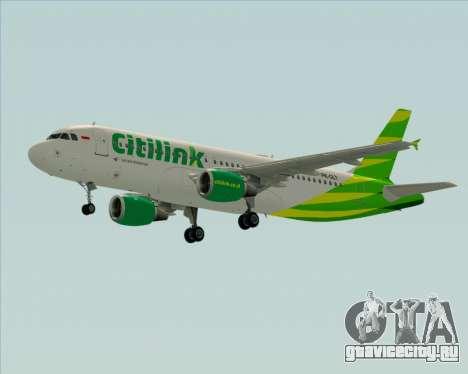 Airbus A320-200 Citilink для GTA San Andreas вид изнутри
