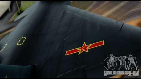 Chenyang J-20 BF4 для GTA San Andreas вид изнутри