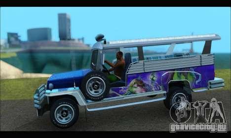 Jeepney from Binan для GTA San Andreas вид сзади слева