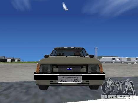 Chevrolet Chevette Hatch для GTA San Andreas вид сзади слева