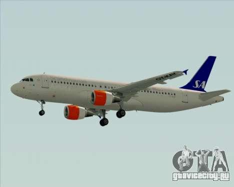 Airbus A320-200 Scandinavian Airlines - SAS для GTA San Andreas вид сзади