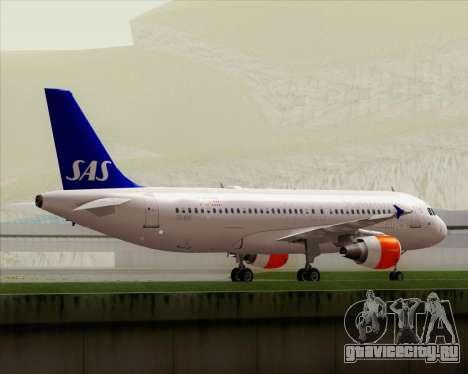 Airbus A320-200 Scandinavian Airlines - SAS для GTA San Andreas вид сверху