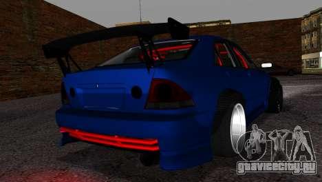 Toyota Altezza DC Hunter для GTA San Andreas вид слева
