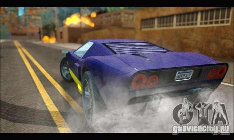 Vapid Bullet Gt (GTA IV) (LC Plate) для GTA San Andreas вид сзади слева