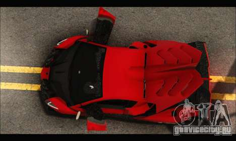 Lamborghini Veneno 2013 HQ для GTA San Andreas вид сверху