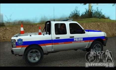 Ford Ranger 2011 Patrulleros CPC для GTA San Andreas вид сзади слева