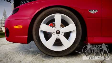 Pontiac GTO 2006 18in wheels для GTA 4 вид сзади