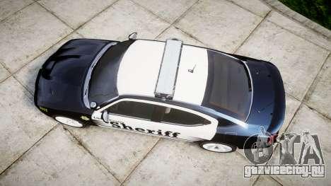 Dodge Charger SRT8 2010 Sheriff [ELS] для GTA 4 вид справа