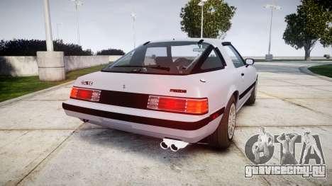 Mazda RX-7 1985 FB3s [EPM] для GTA 4 вид сзади слева
