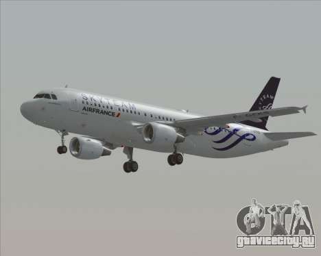 Airbus A320-200 Air France Skyteam Livery для GTA San Andreas вид сбоку