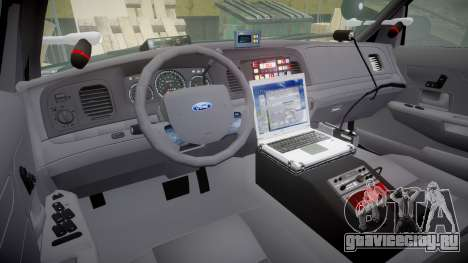 Ford Crown Victoria Highway Patrol [ELS] Vision для GTA 4 вид сзади