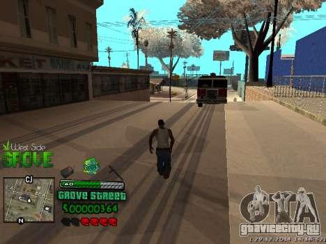 C-HUD Grove Street для GTA San Andreas седьмой скриншот