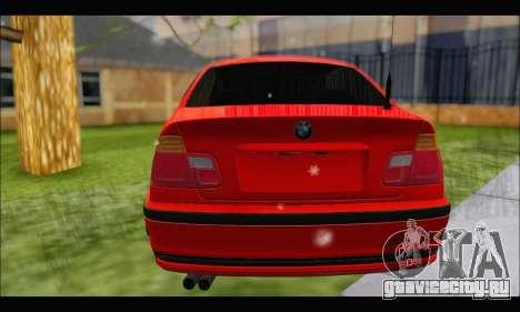 BMW e46 Sedan V2 для GTA San Andreas вид сзади